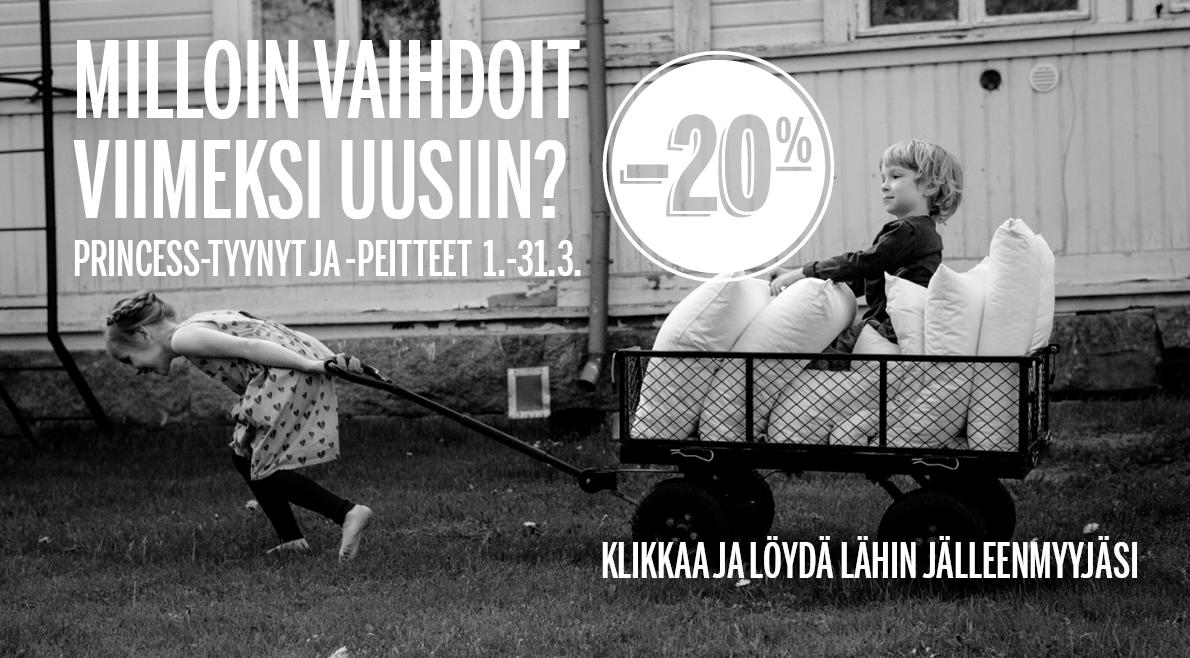 Familonin Vaihtoväli-kampanja maaliskuussa, Princess-tuotteet -20%
